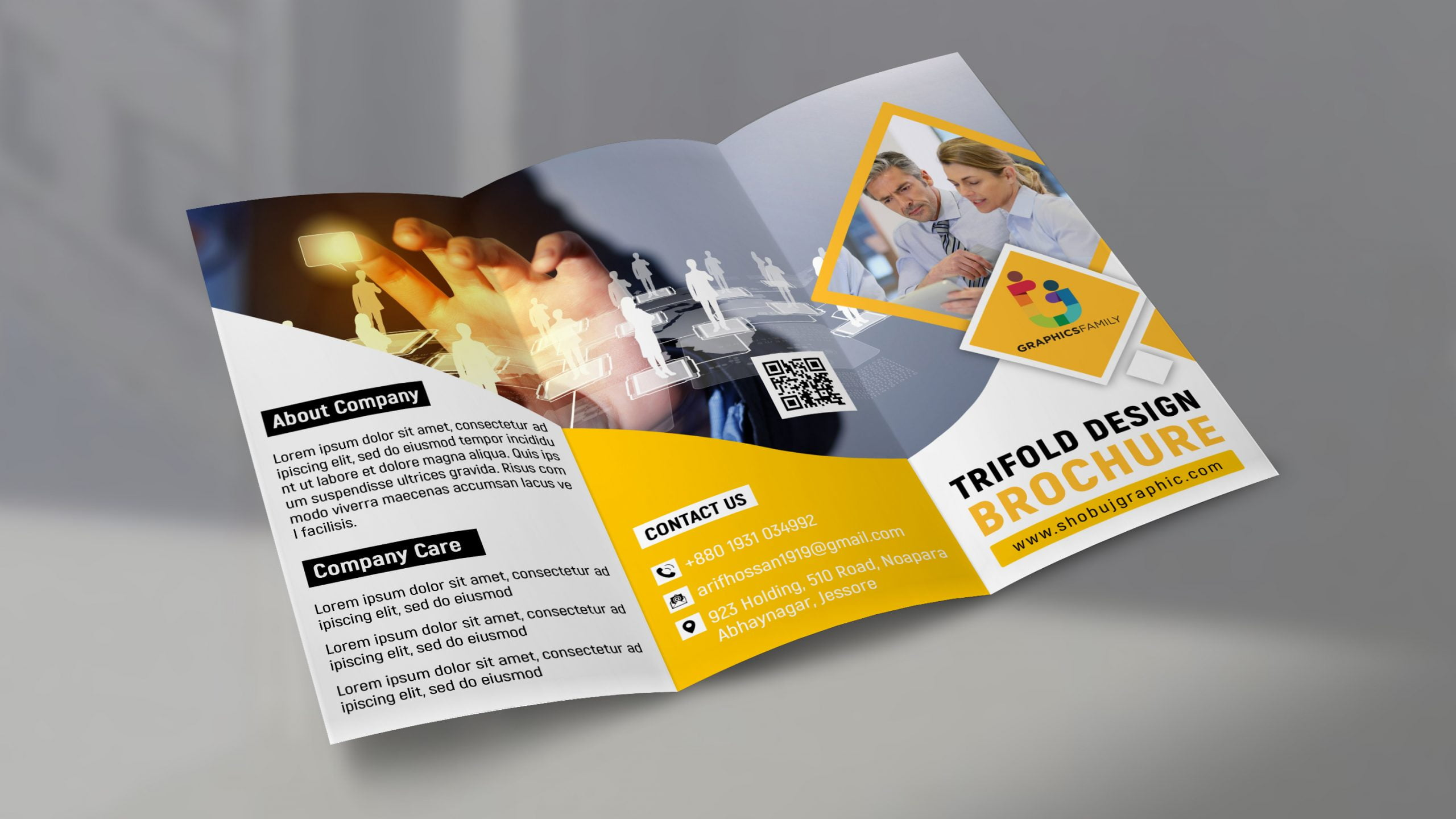Trifold Brochure for corporate use free psd
