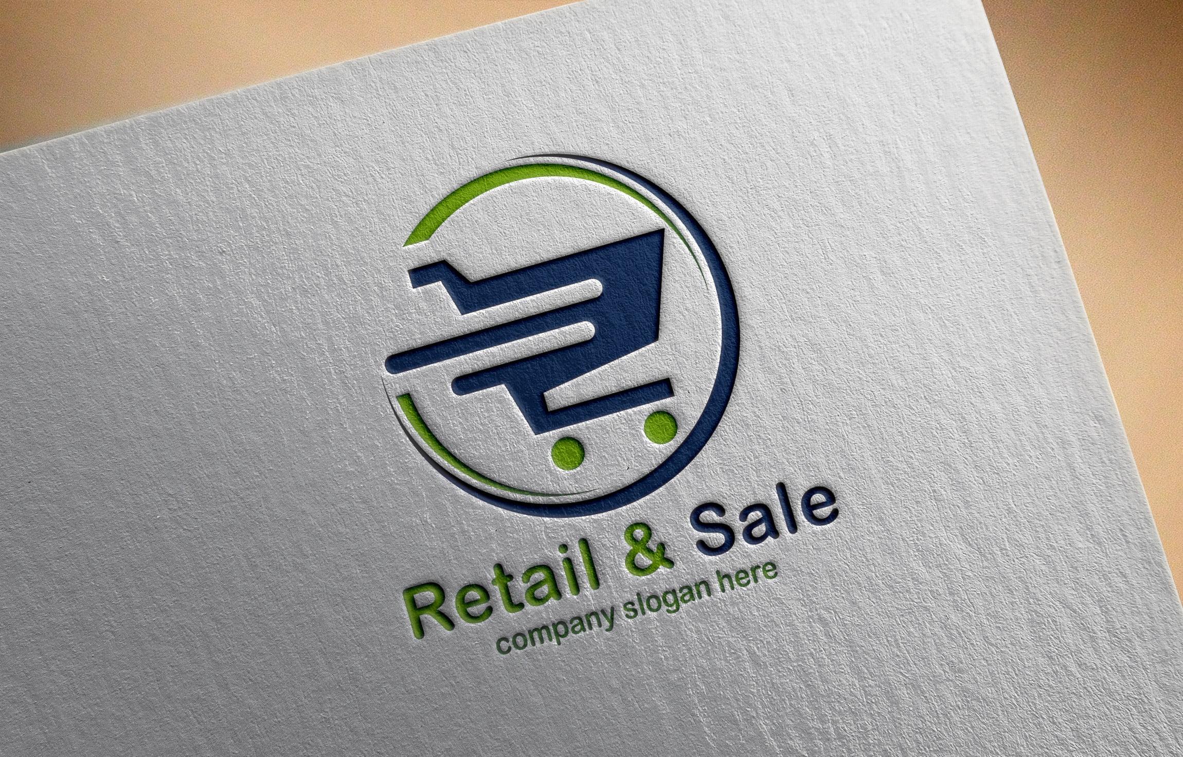 online shopping logo design on Paper mockup