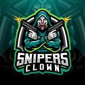 Sniper Clown Esport Mascot Logo