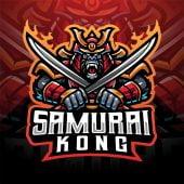Samurai Kong Esport Mascot Logo