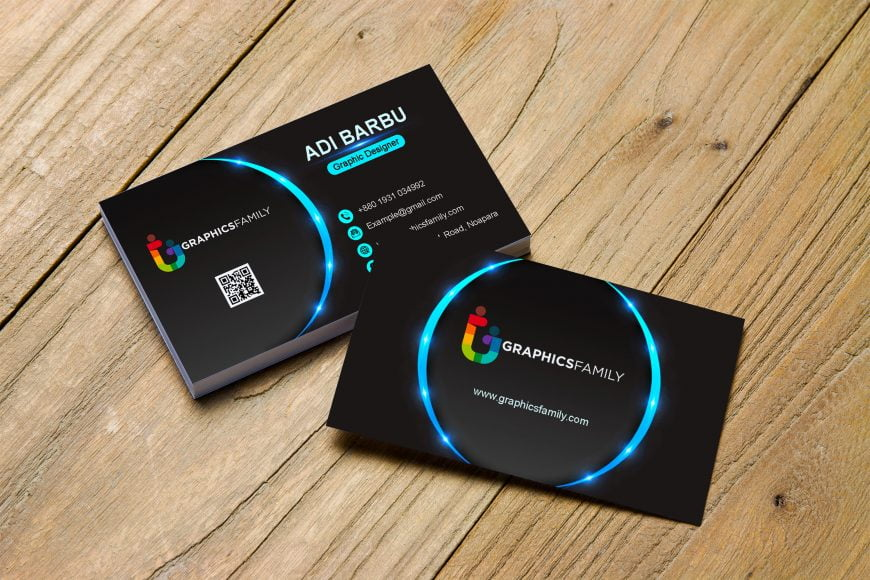 Abstract-business-card-design-For-Assistant-Manager-scaled