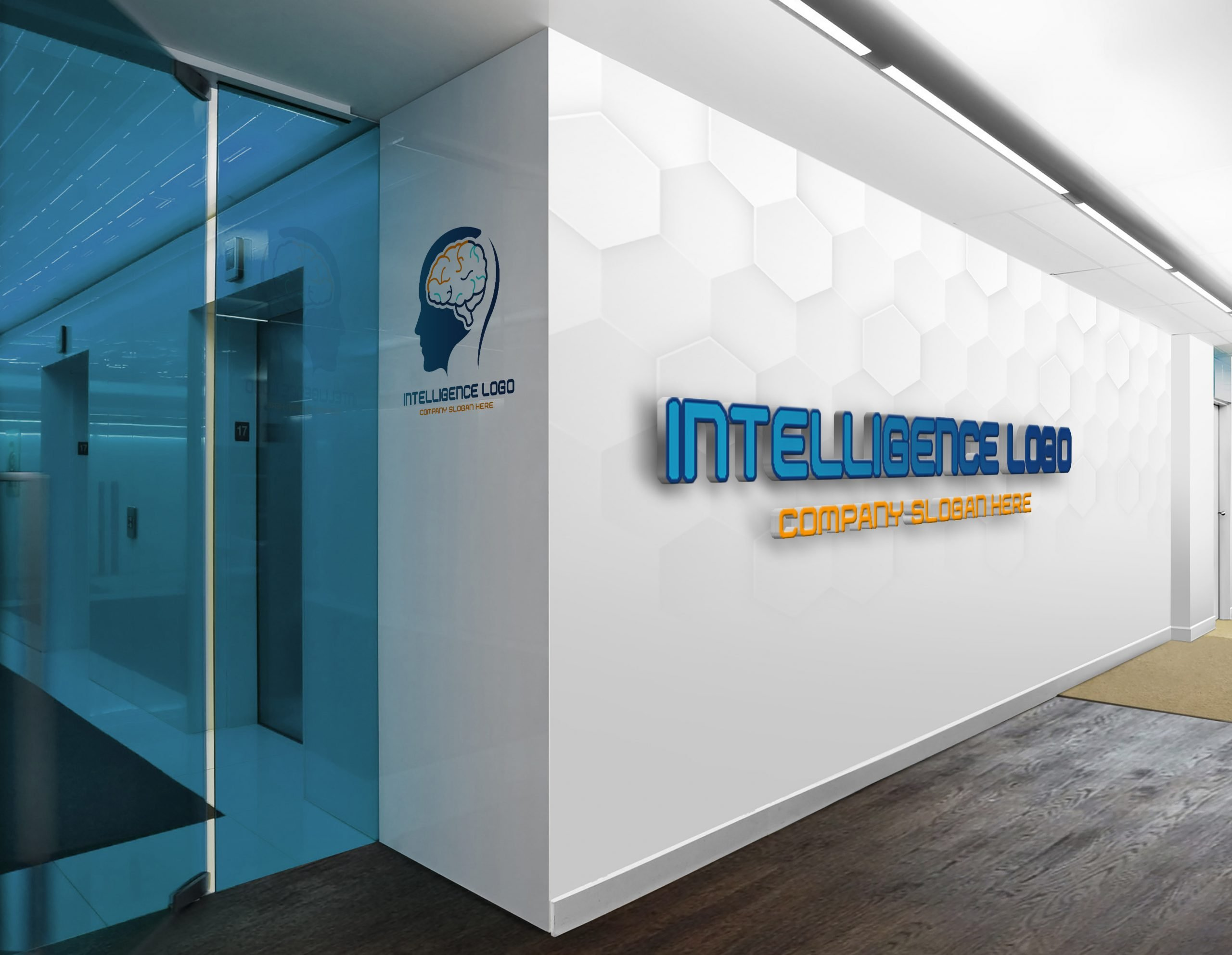 Artificial Intelligence Logo on office wall