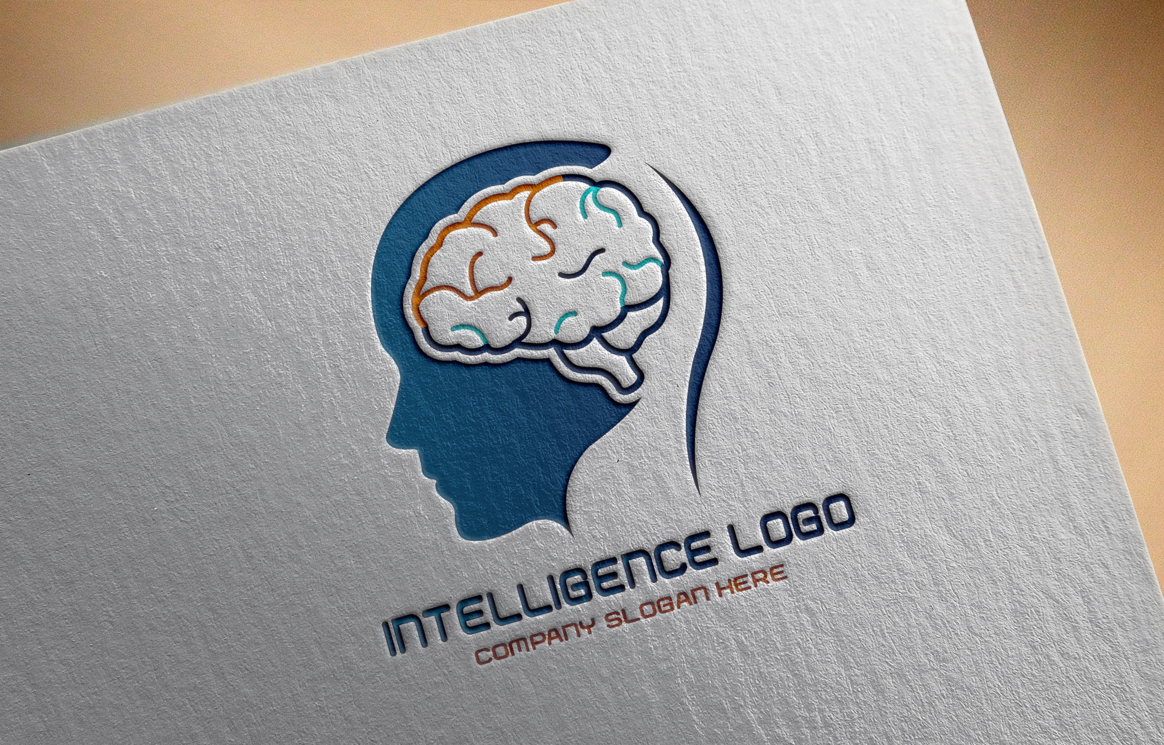 Artificial Intelligence Logo on white paper