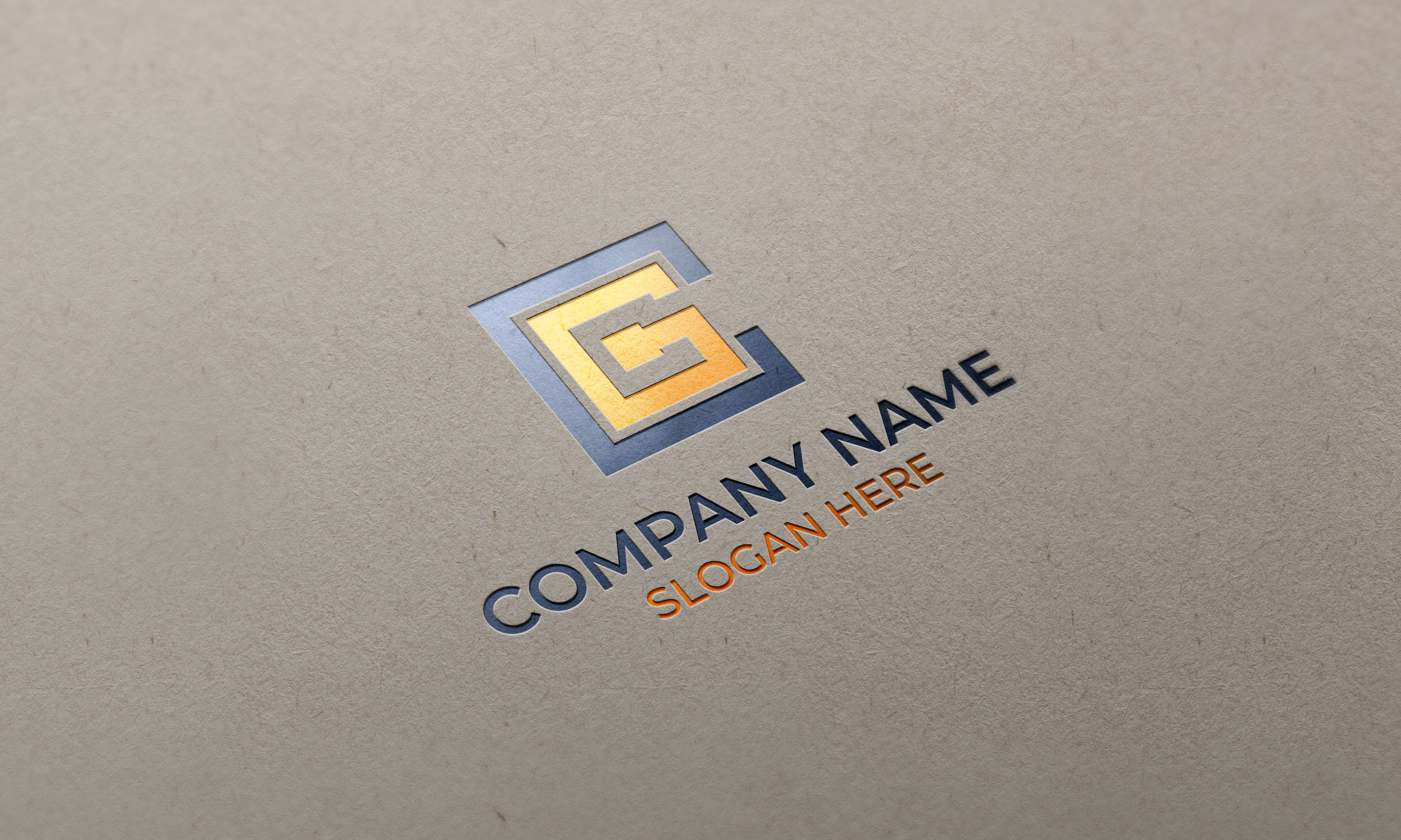 CG Letter logo on paper mockupCG Letter logo on paper mockup