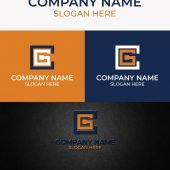 CG Initial Letter Logo Free AI Download