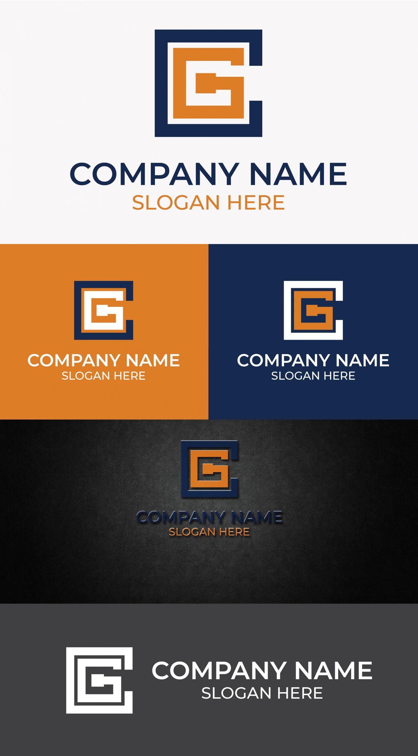 CG Monogram logo Template