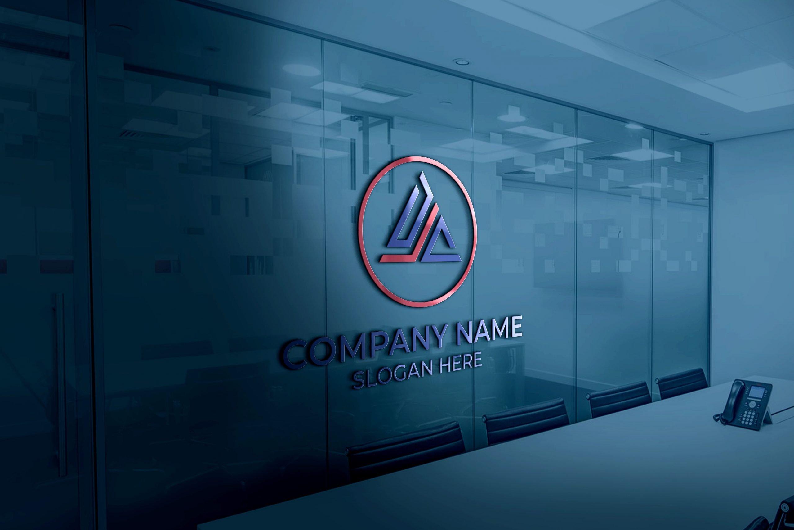 DJC Logo on 3d Glass Window