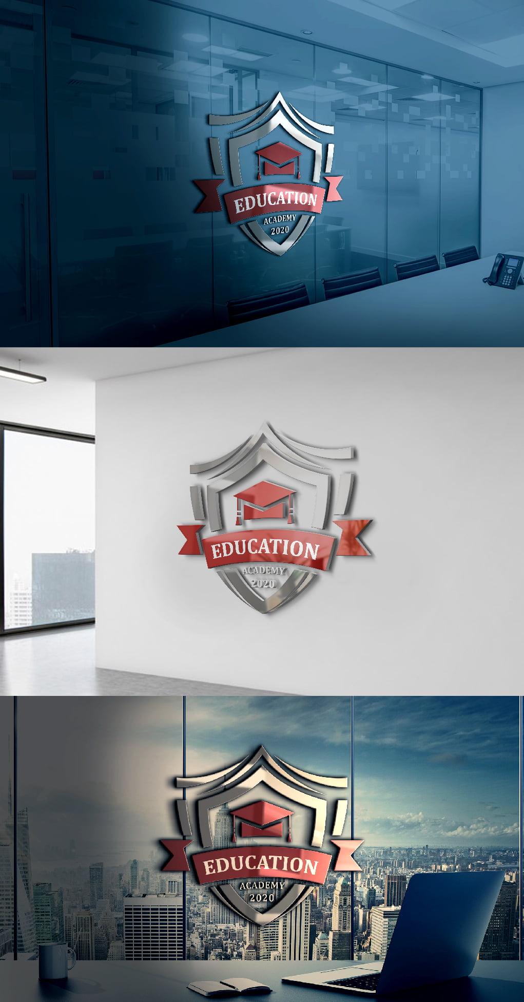 Educational logo template