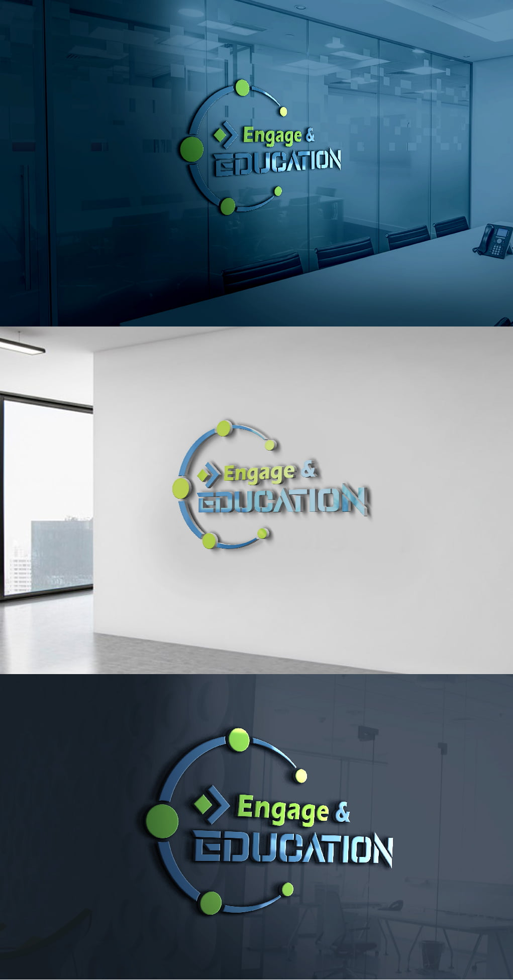 Engage in Education Logo Design Template