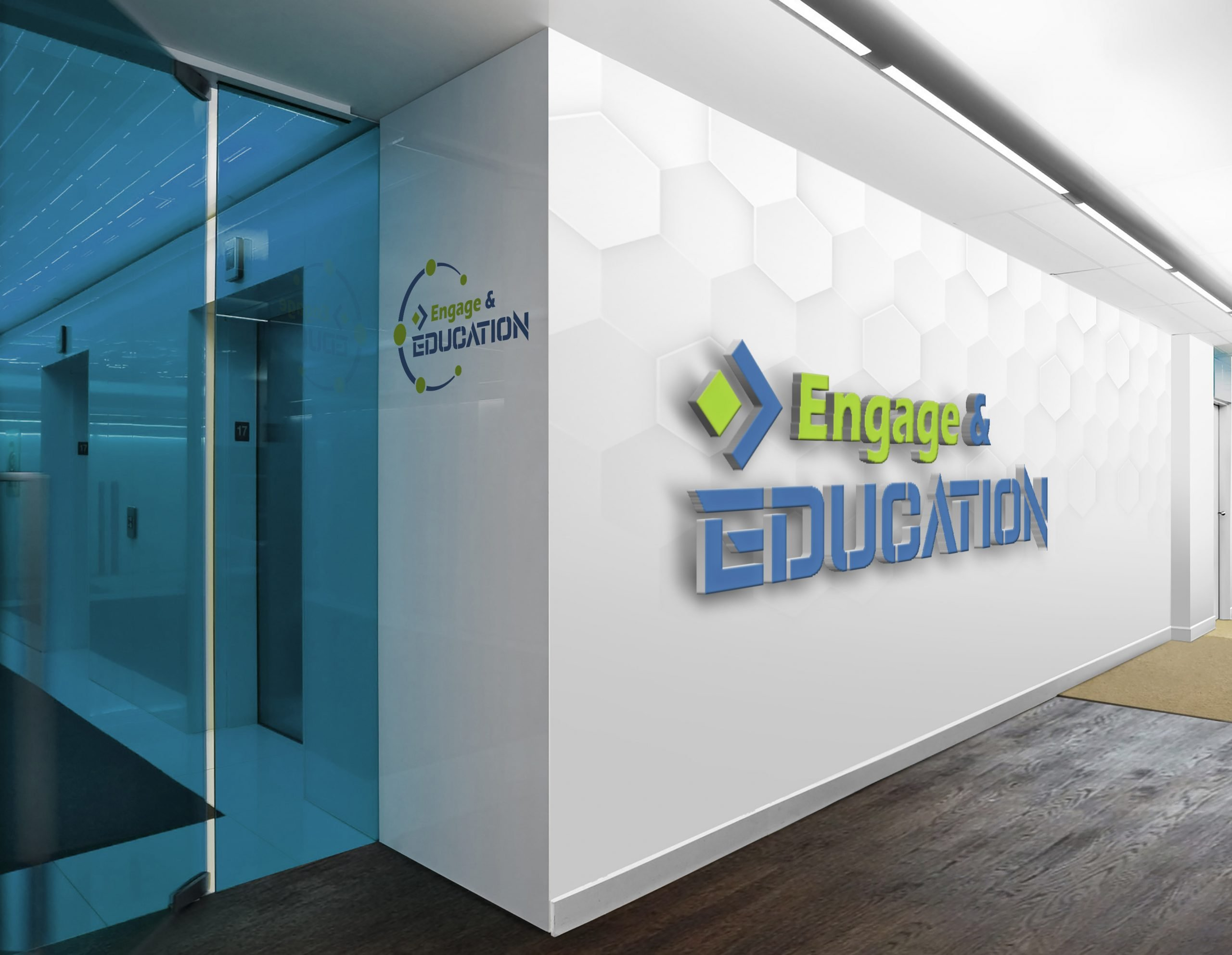 Engage in Education Logo On white wall