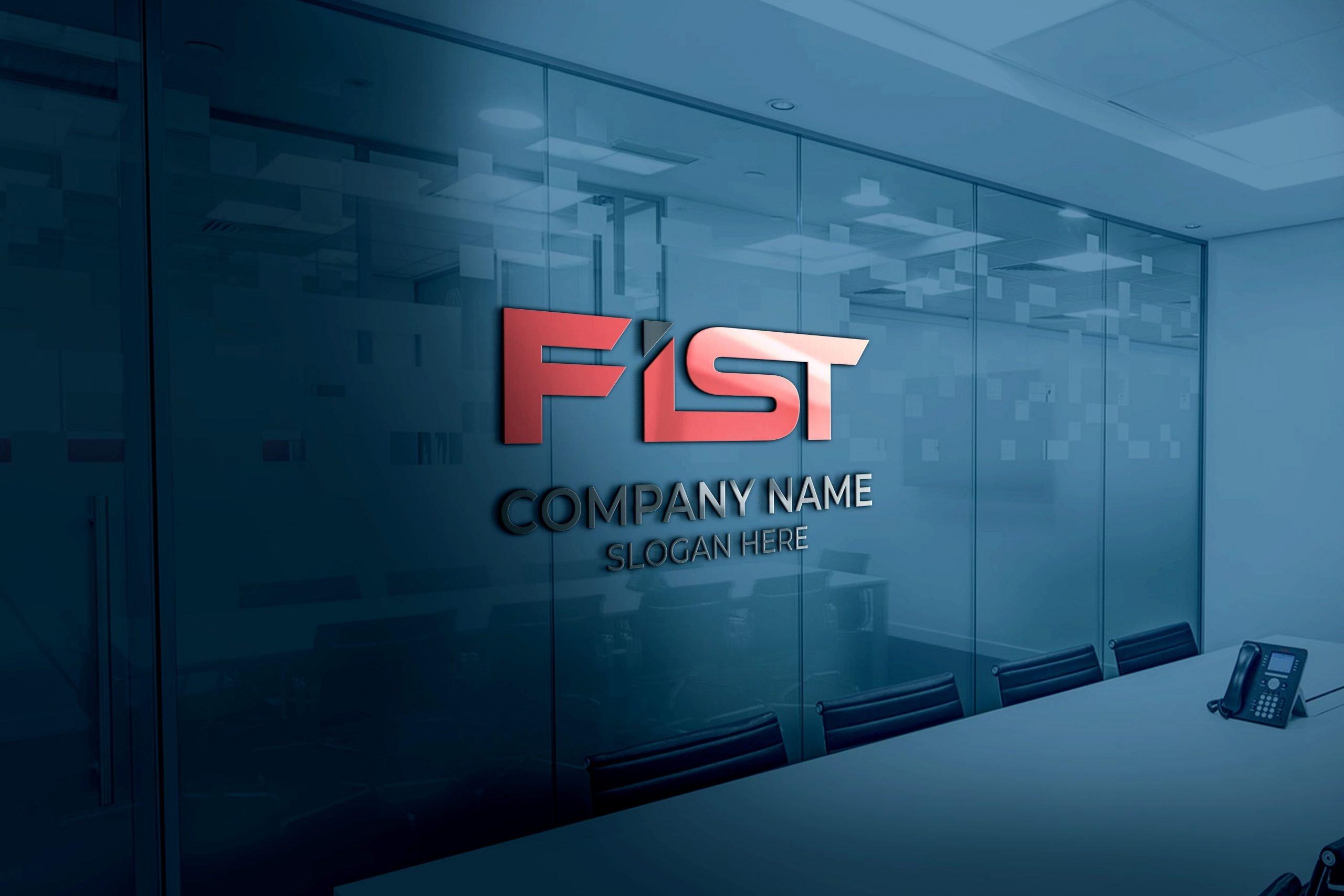 FIST Logo on 3d Office Glass