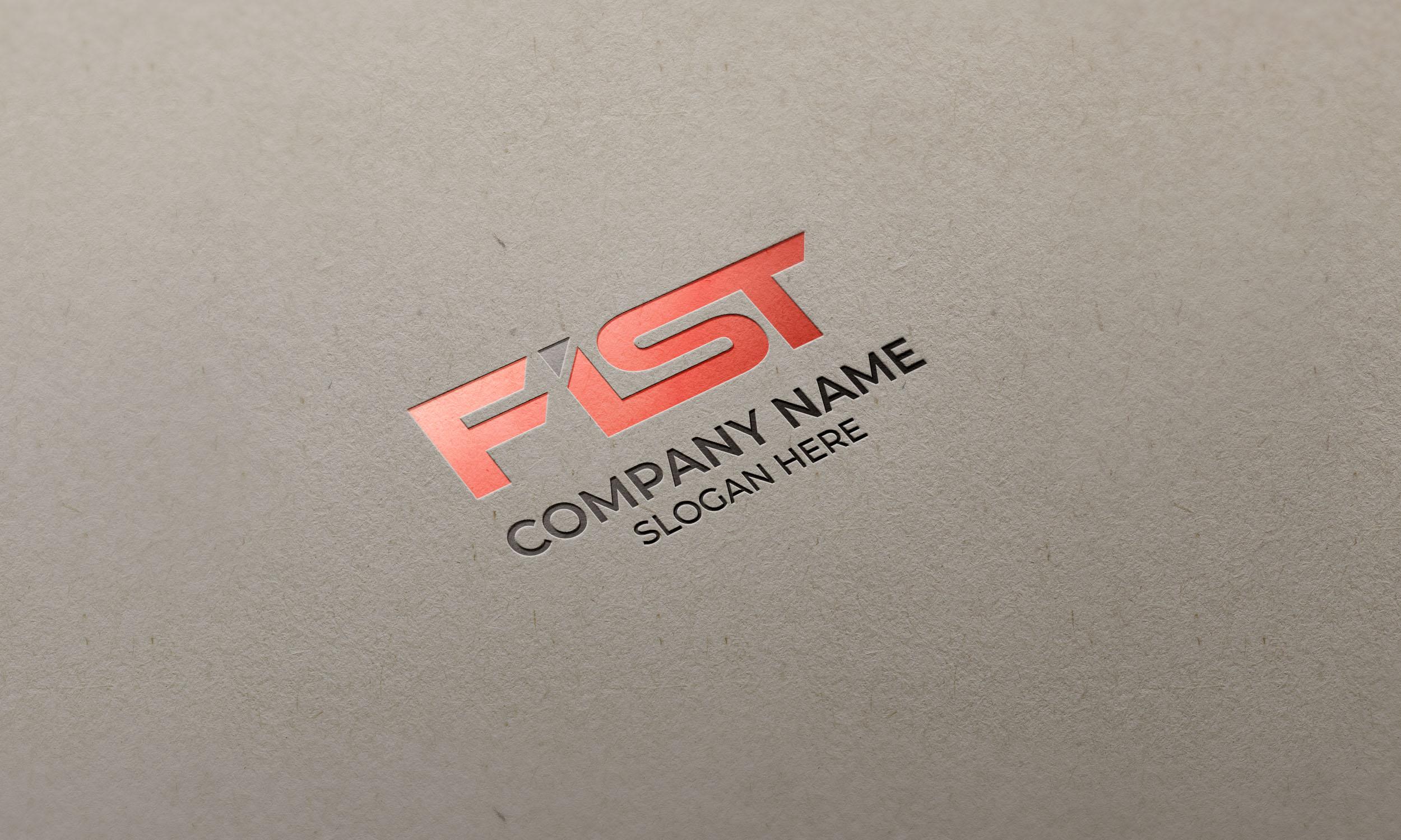 FIST Logo on glossy letterpress mockup