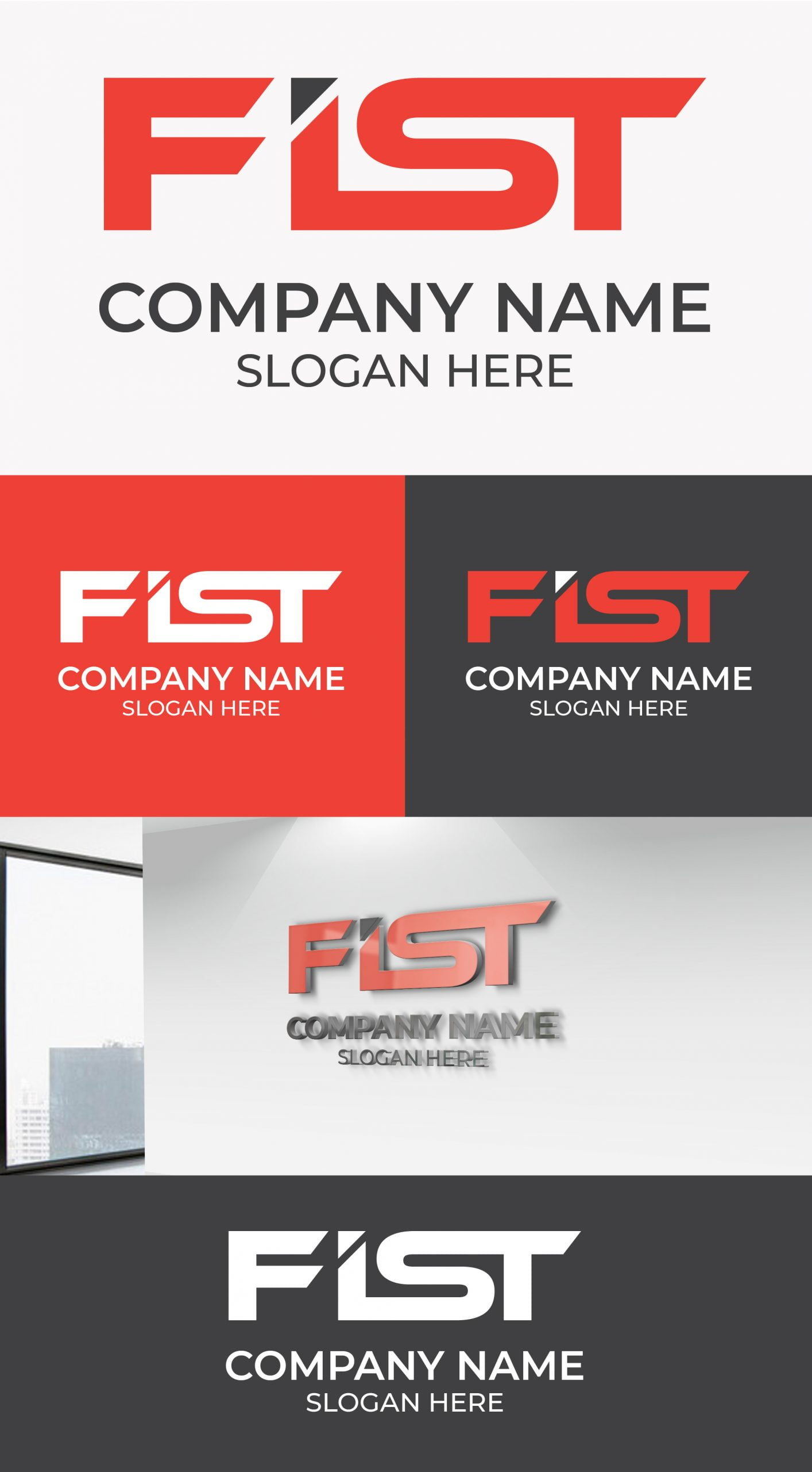 Fist Logo Template