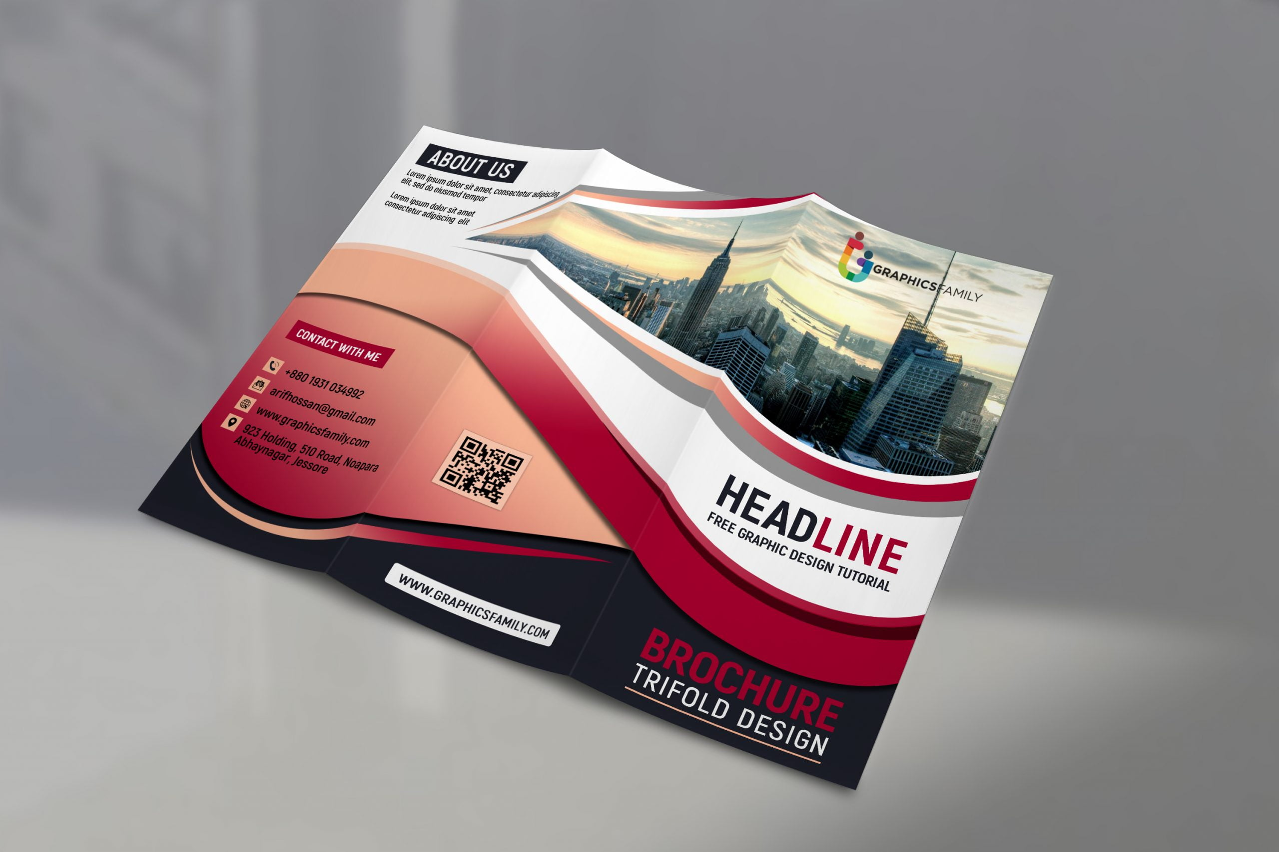 Free Tri Fold Brochure For your Business Promotion