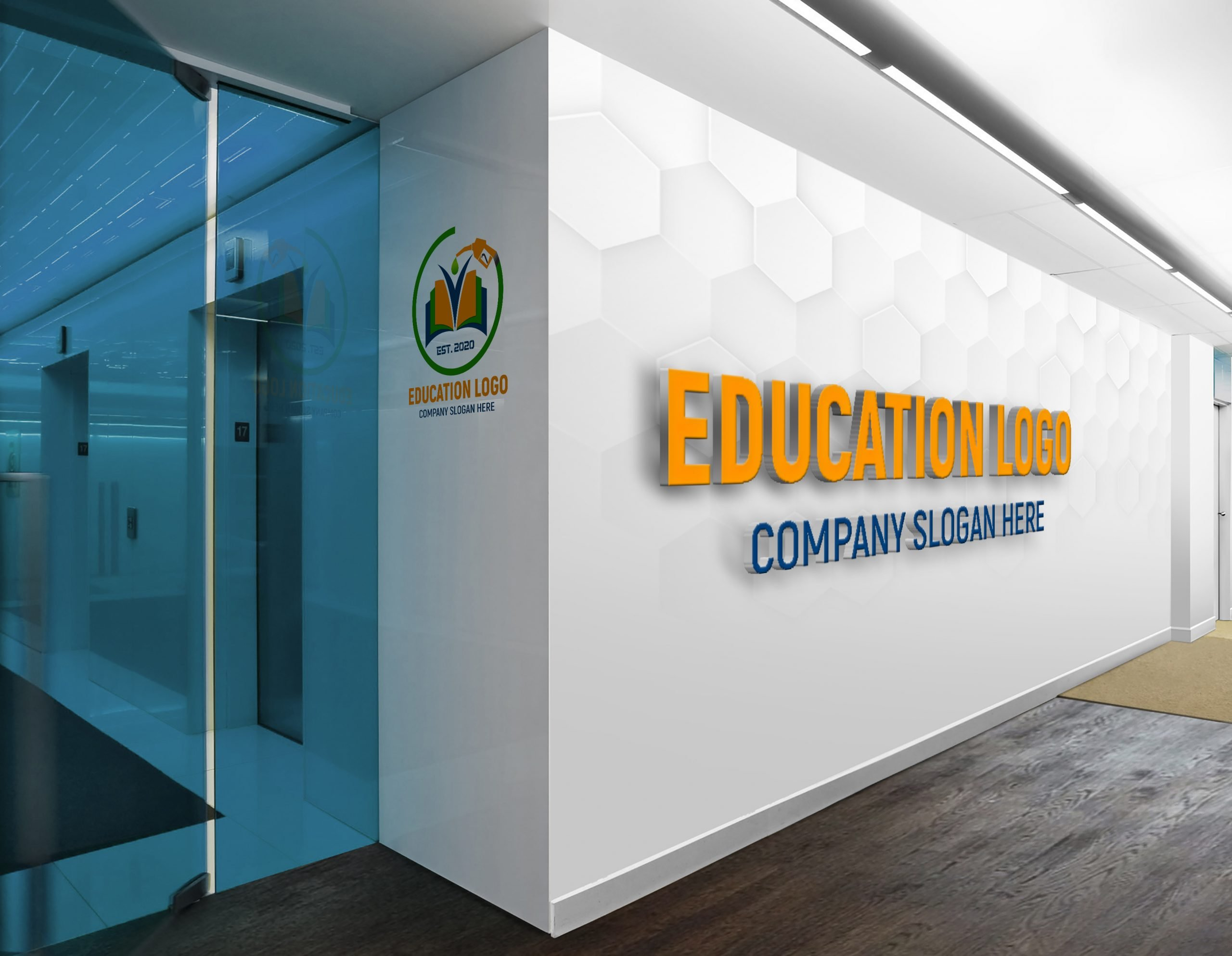 Fueling Education Logo On office wall