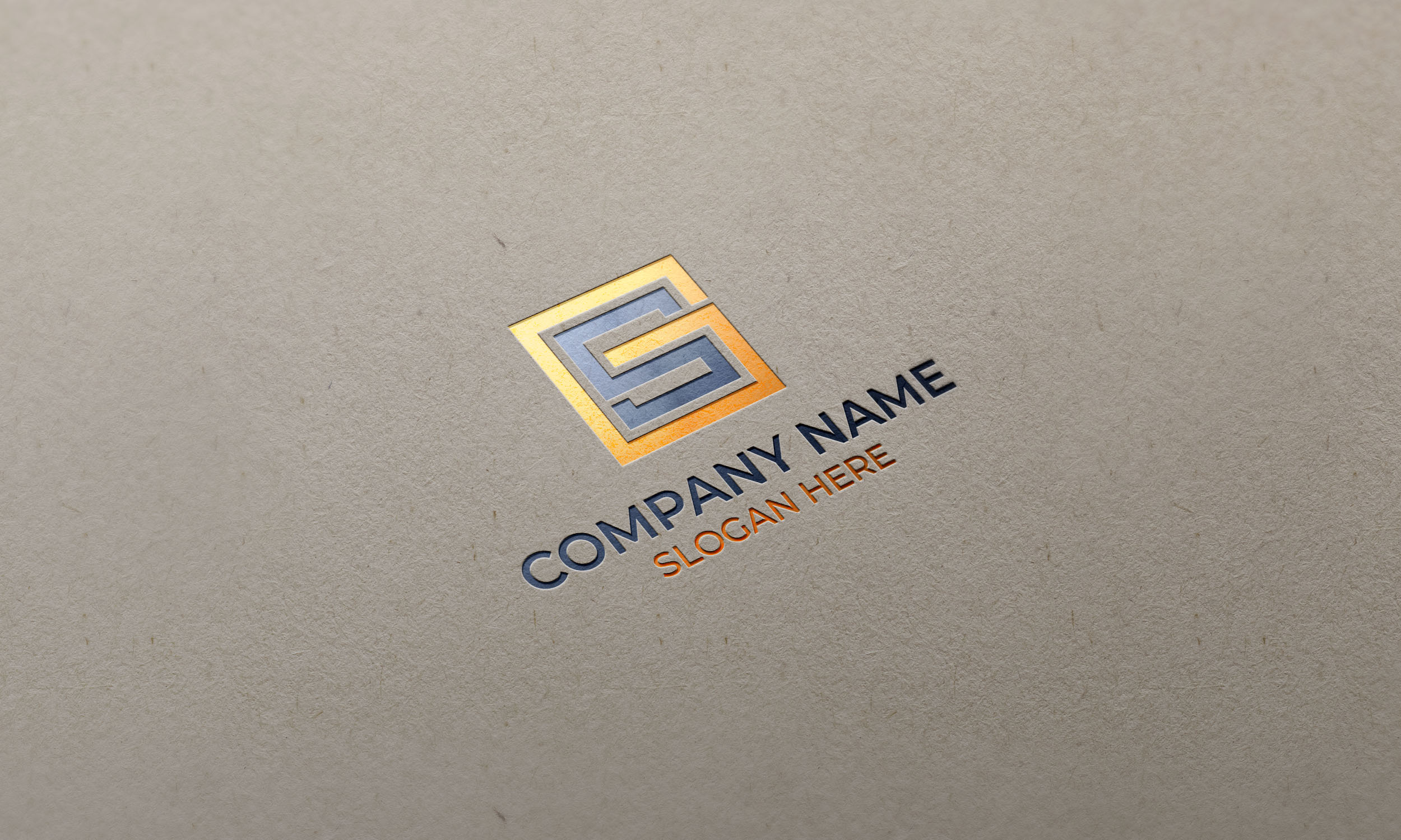GS Logo on paper mockup