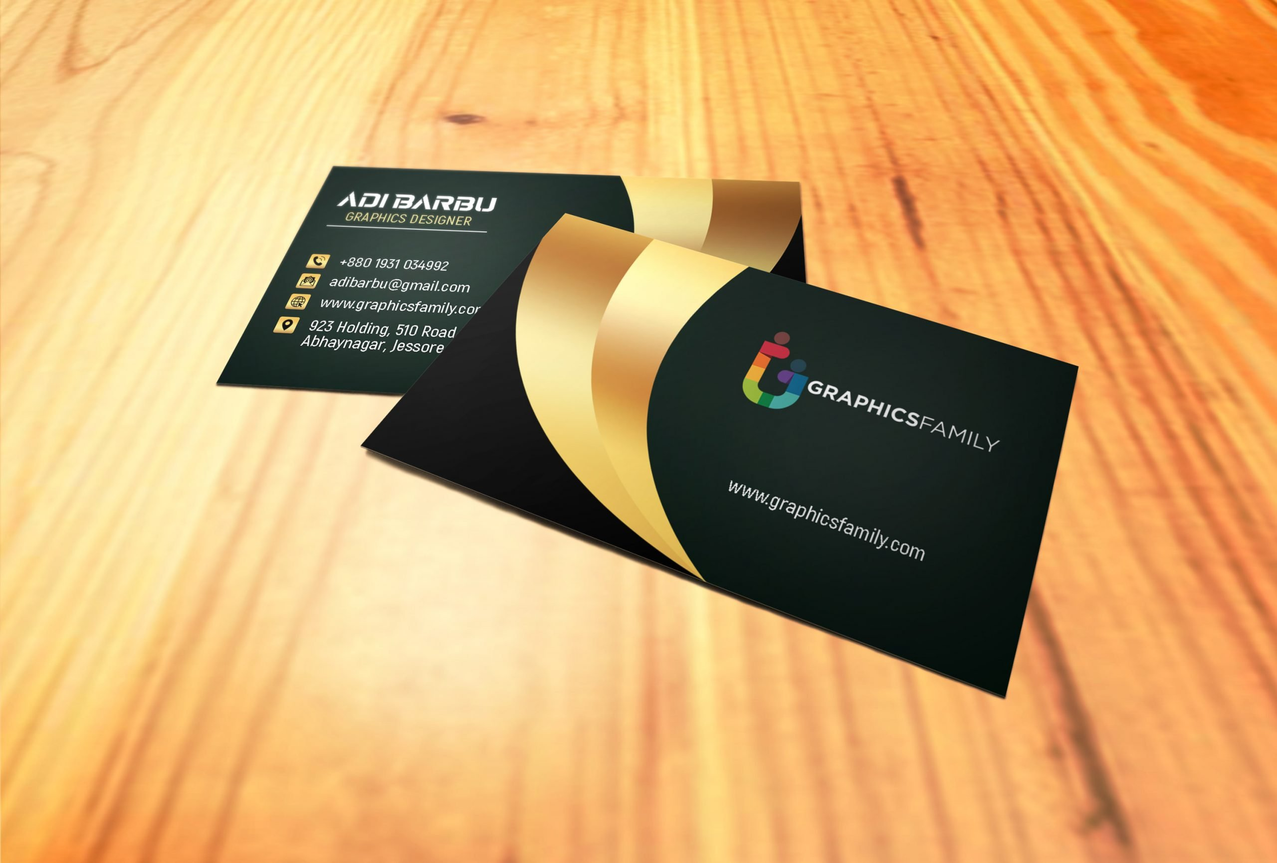 Luxury Business Card Design For Branch Manager Free Template