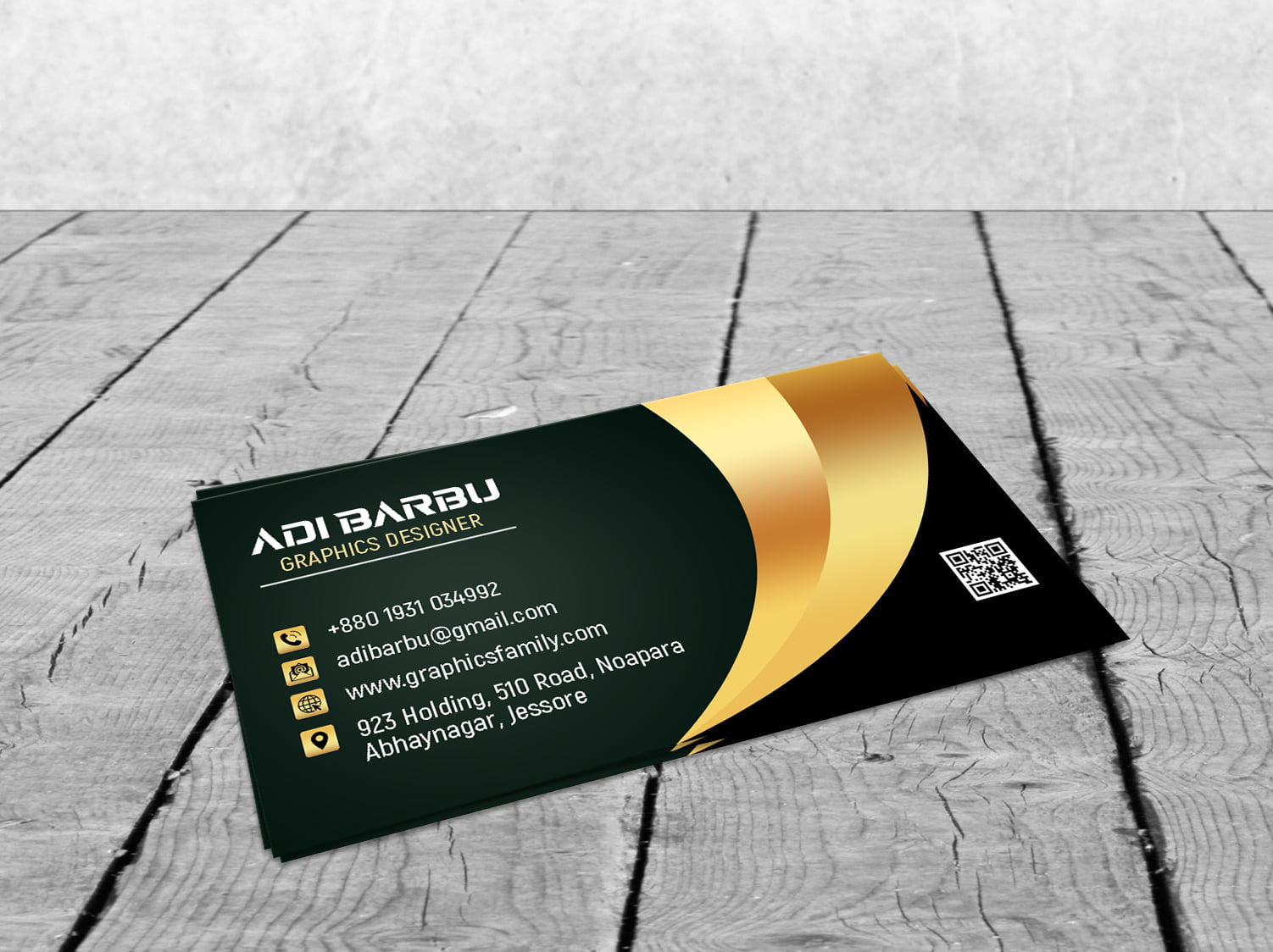Luxury Business Card Design For Branch Manager Presentation