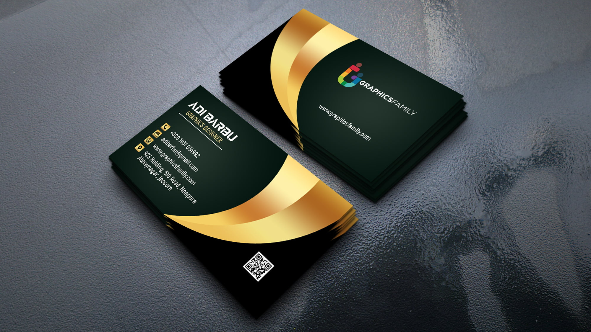 Luxury Business Card Design For Branch Manager psd download