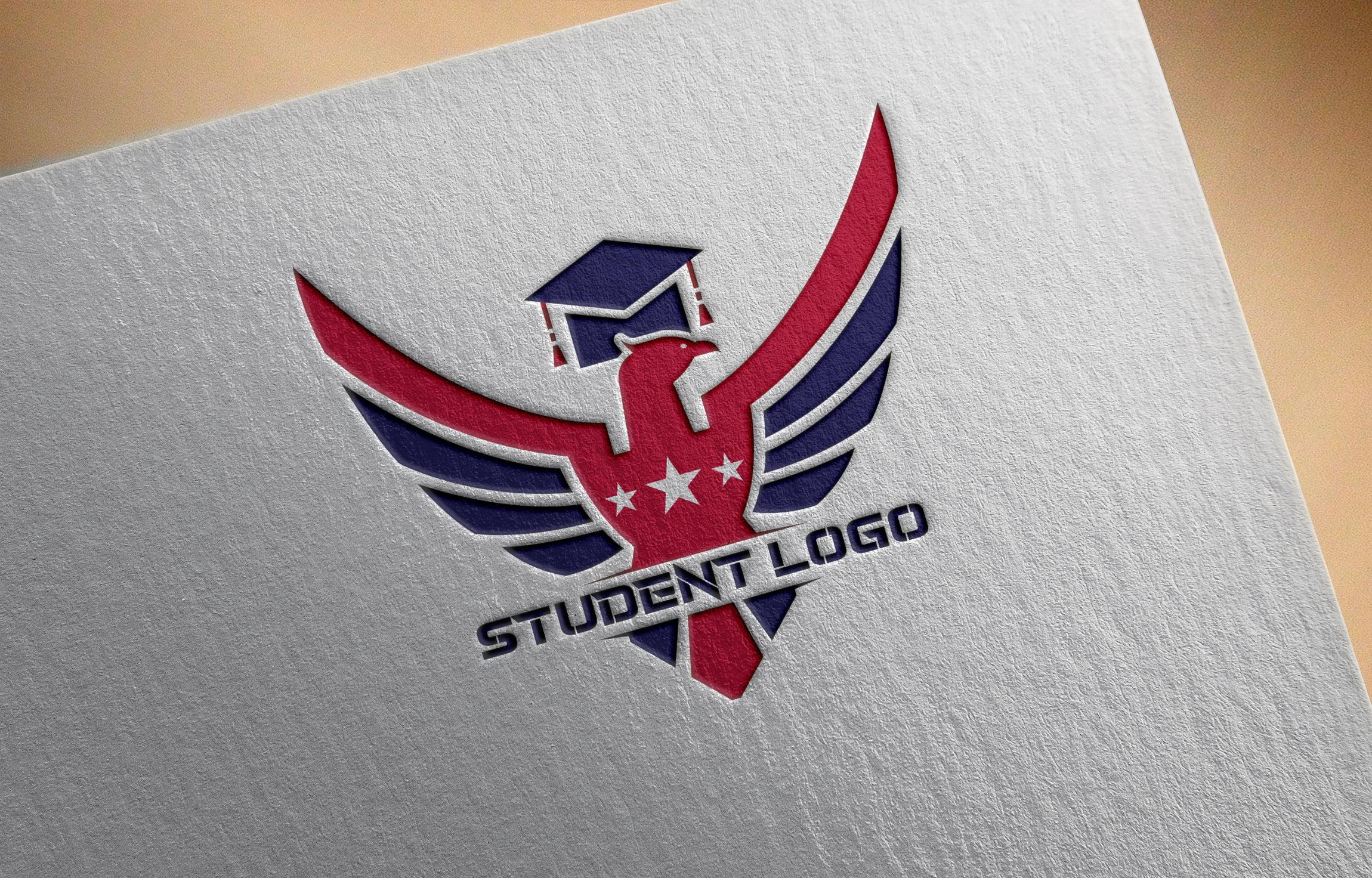 Modern Student Logo on white paper