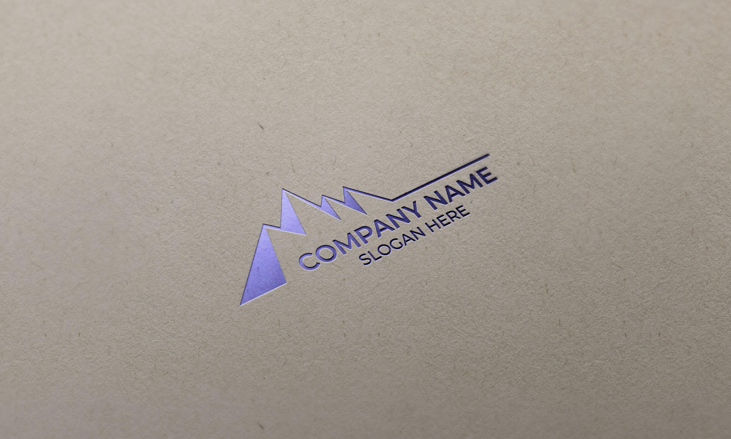 Mountain logo design Free Template