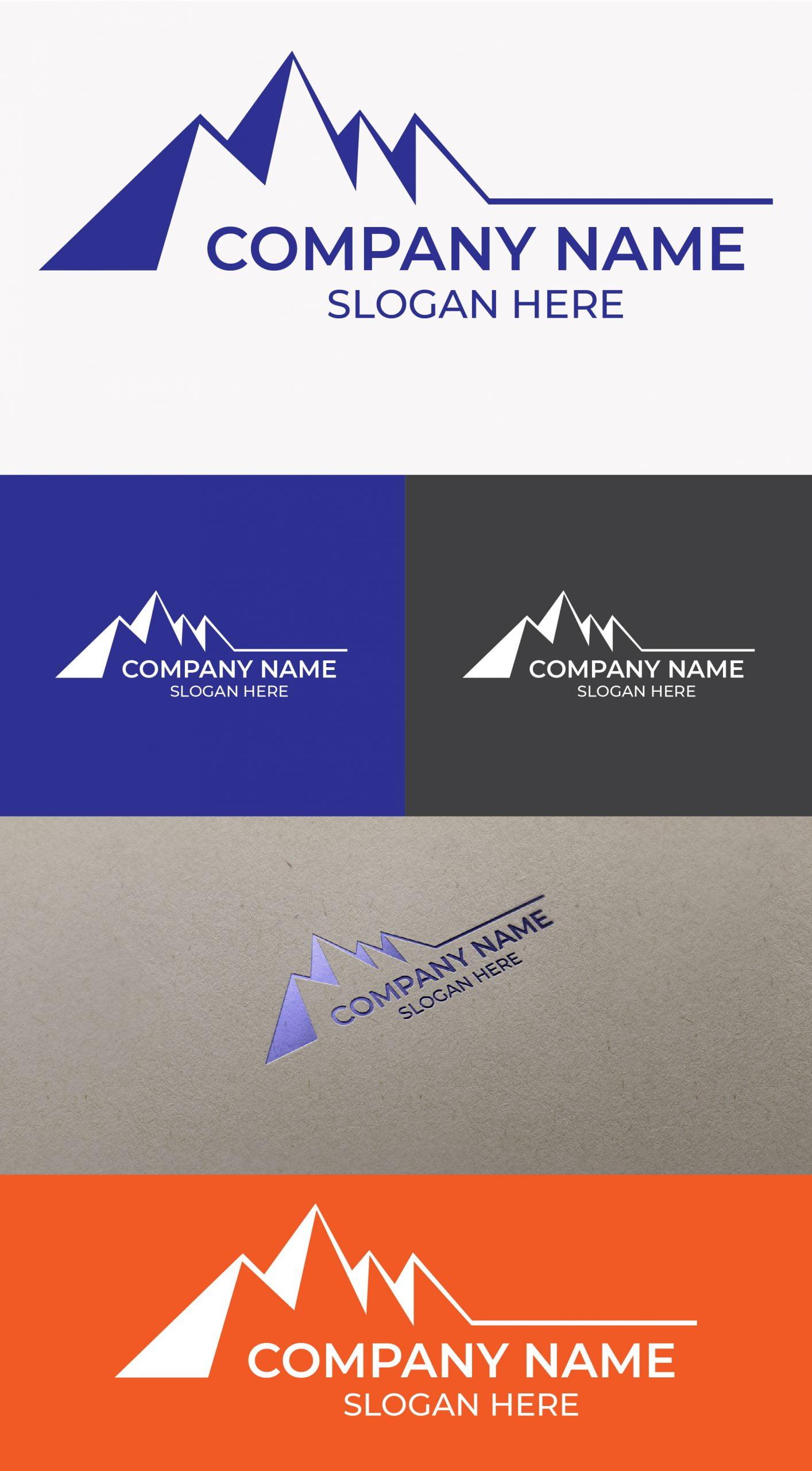 Mountain logo free Template
