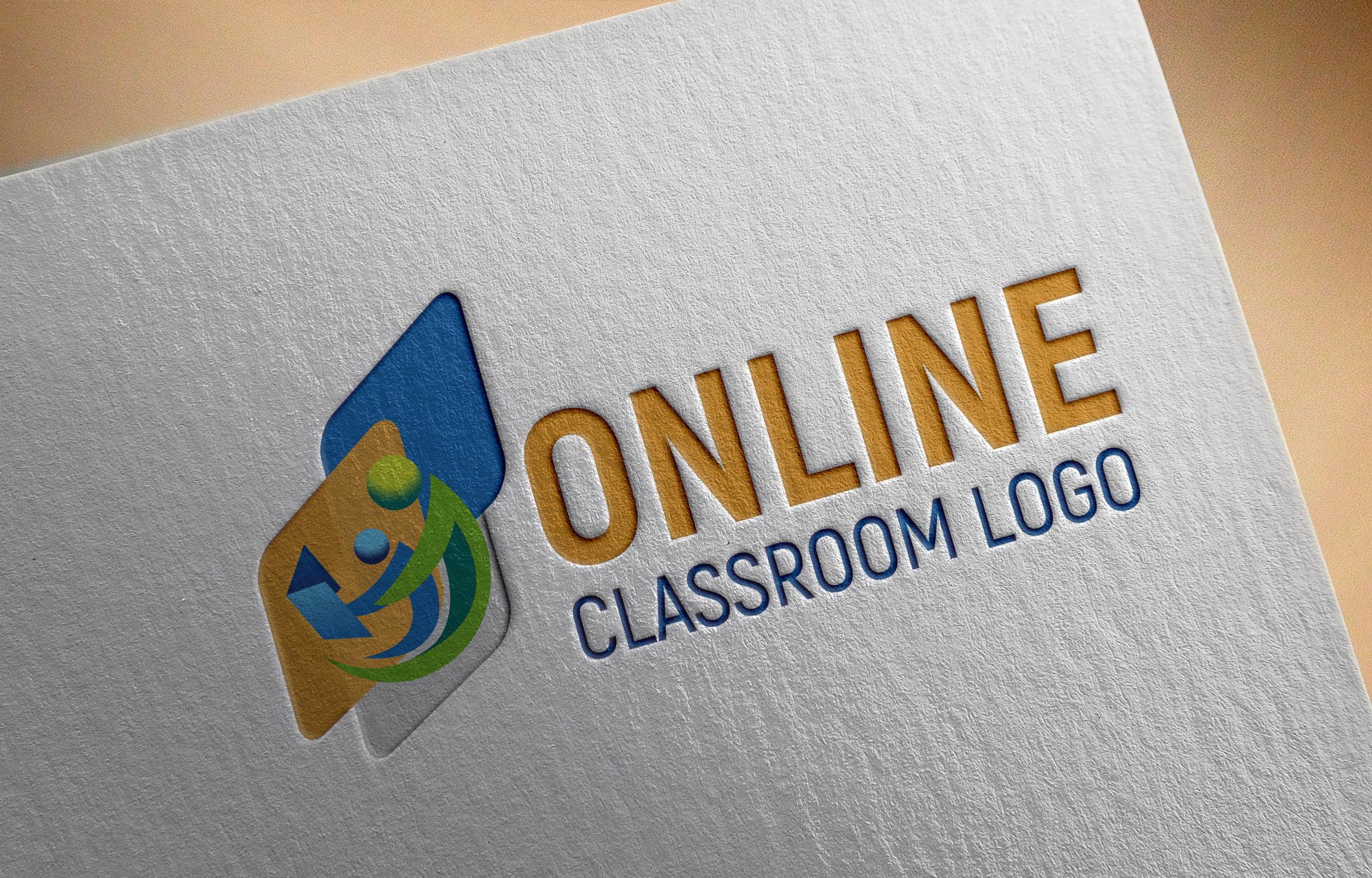 Online Class logo on White paper