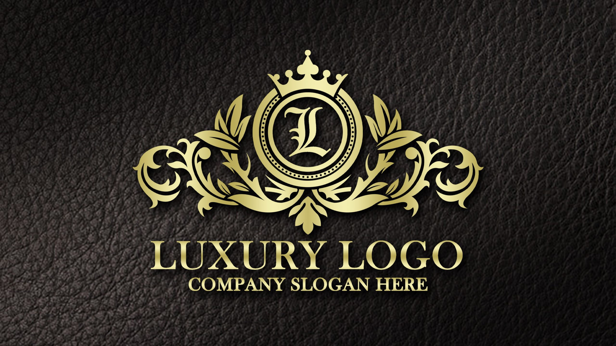 Professional Luxury Logo Design on realistic leather