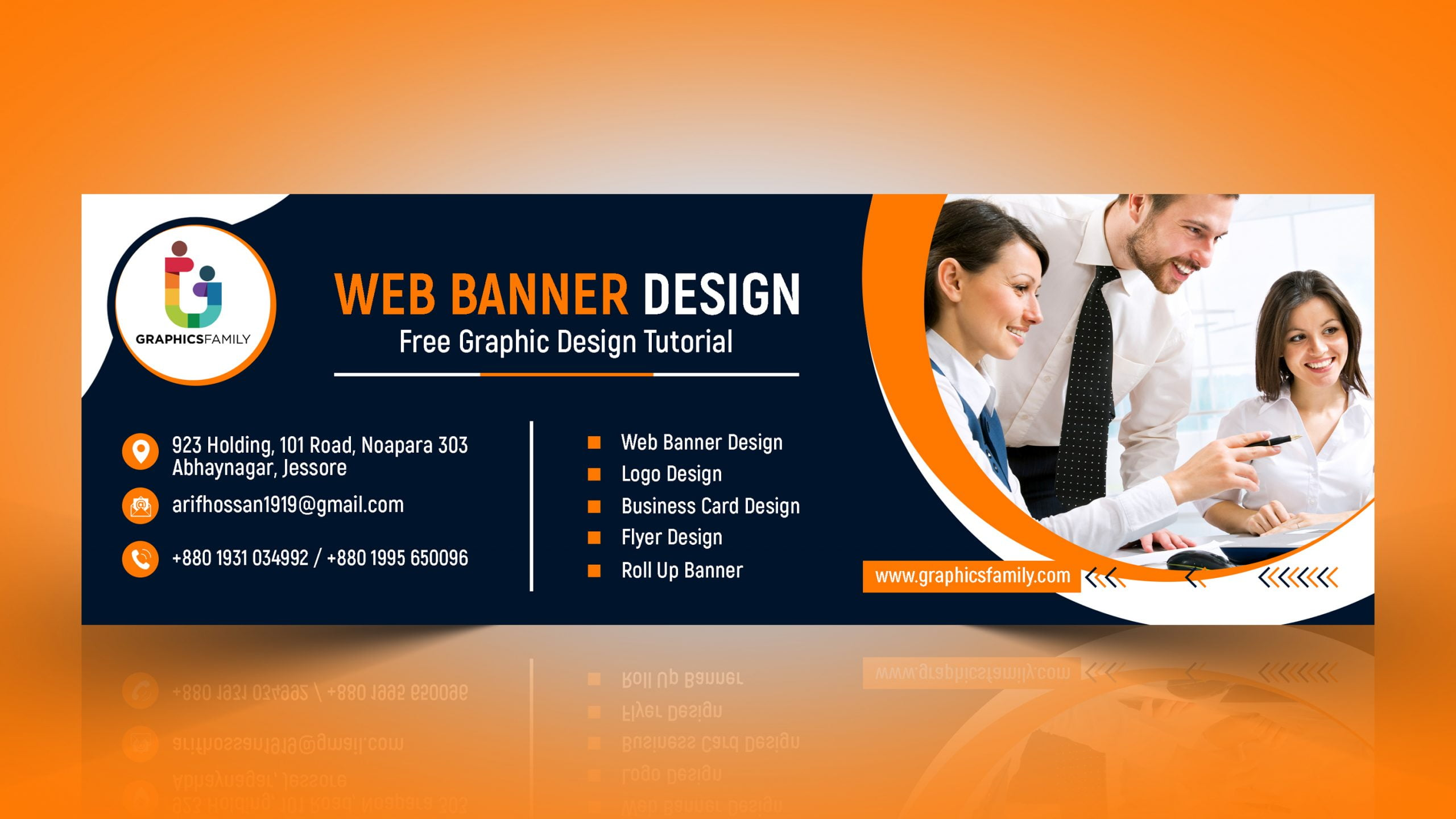Professional Web Banner AD in Photoshop
