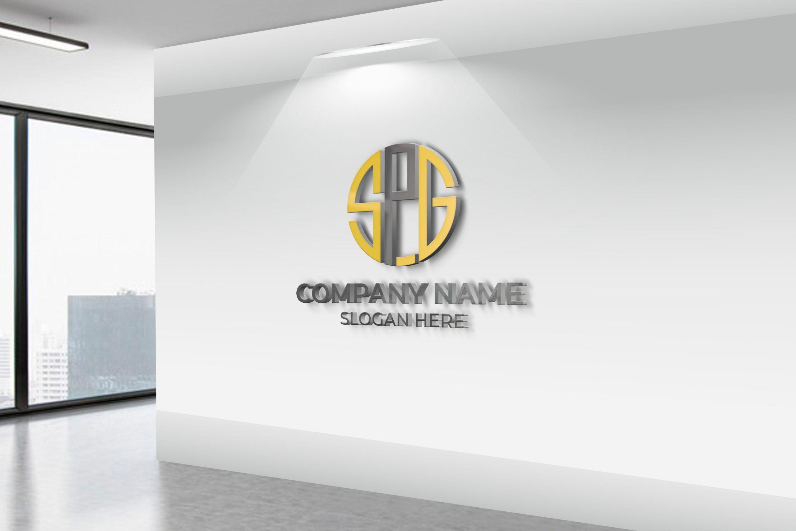 SPG Logo on white wall