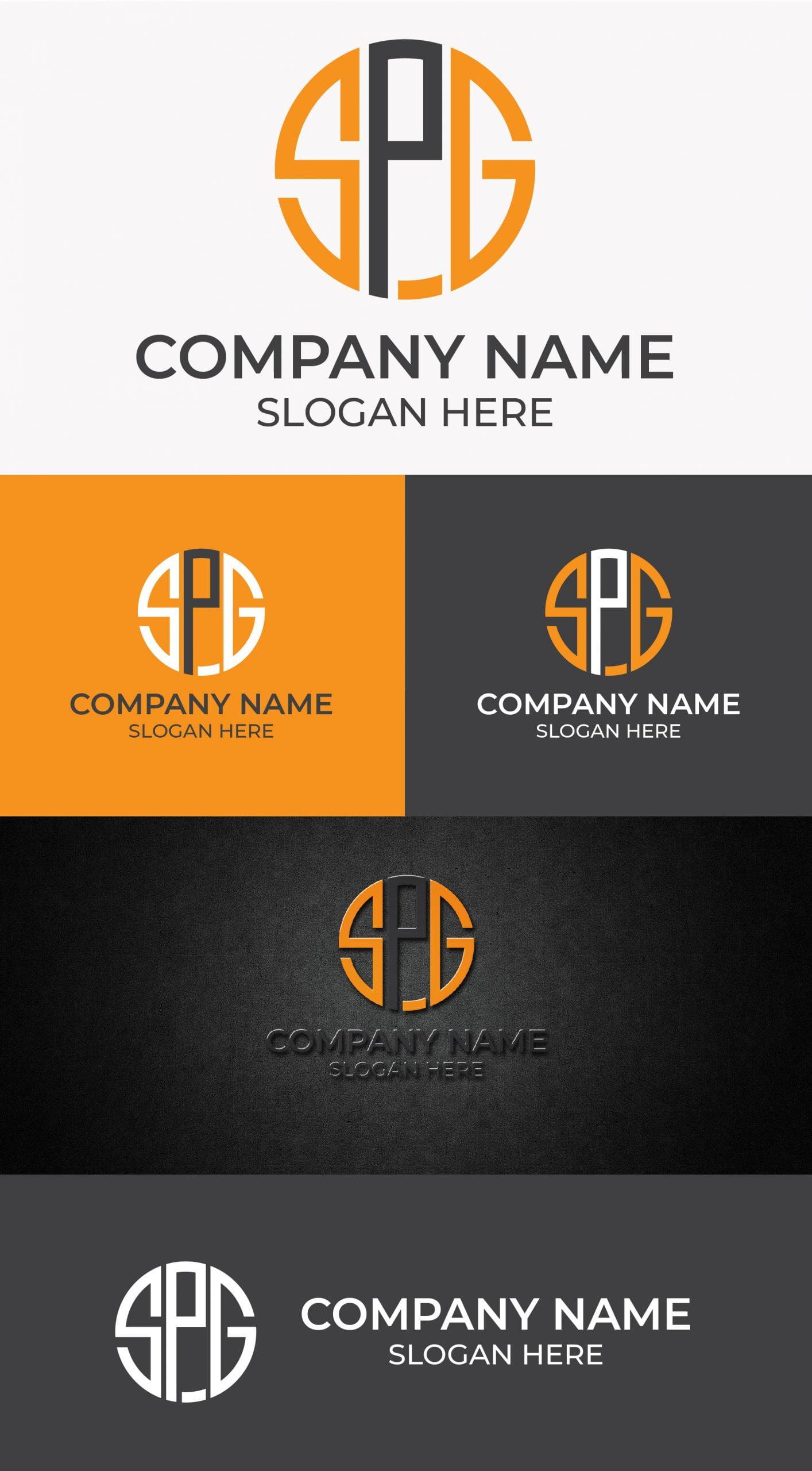 SPG monogram logo template