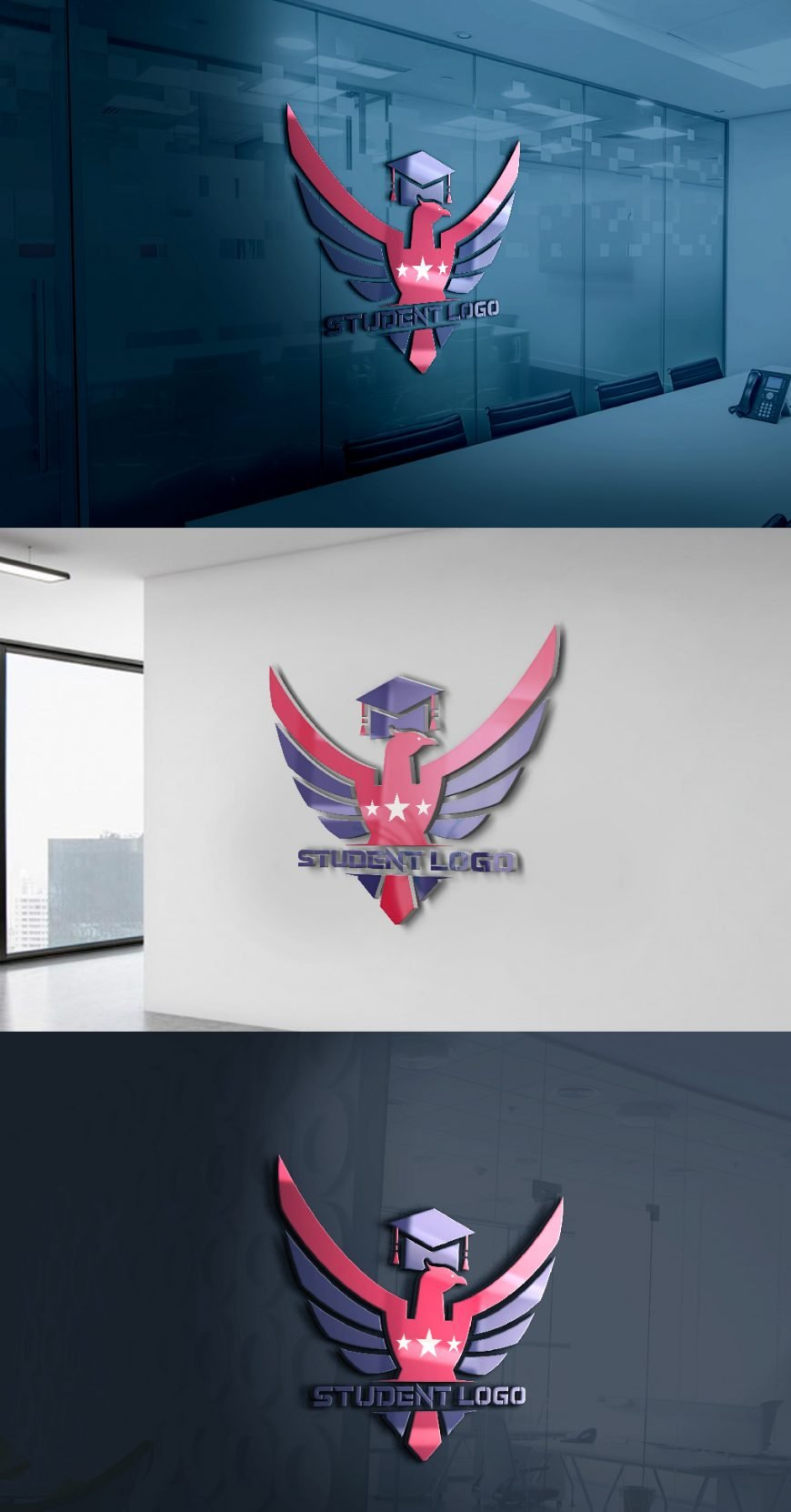 Student-Logo-Free-psd-Template