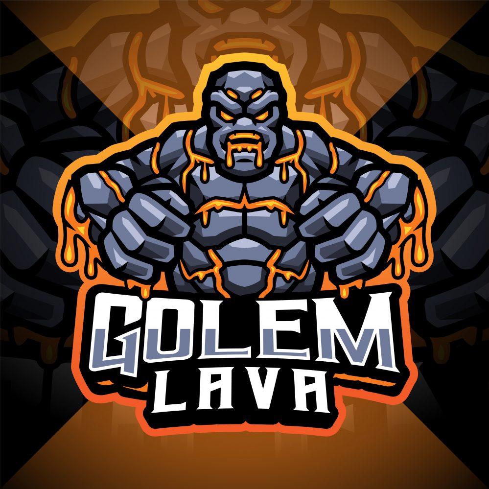 golem lava mascot logo
