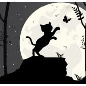 cat silhouette, simple vector illustration