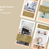Furniture stories social media template banner