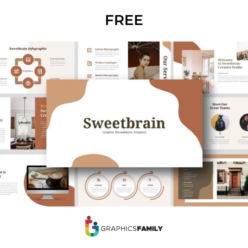 Sweetbrain Creative PowerPoint Presentation Template