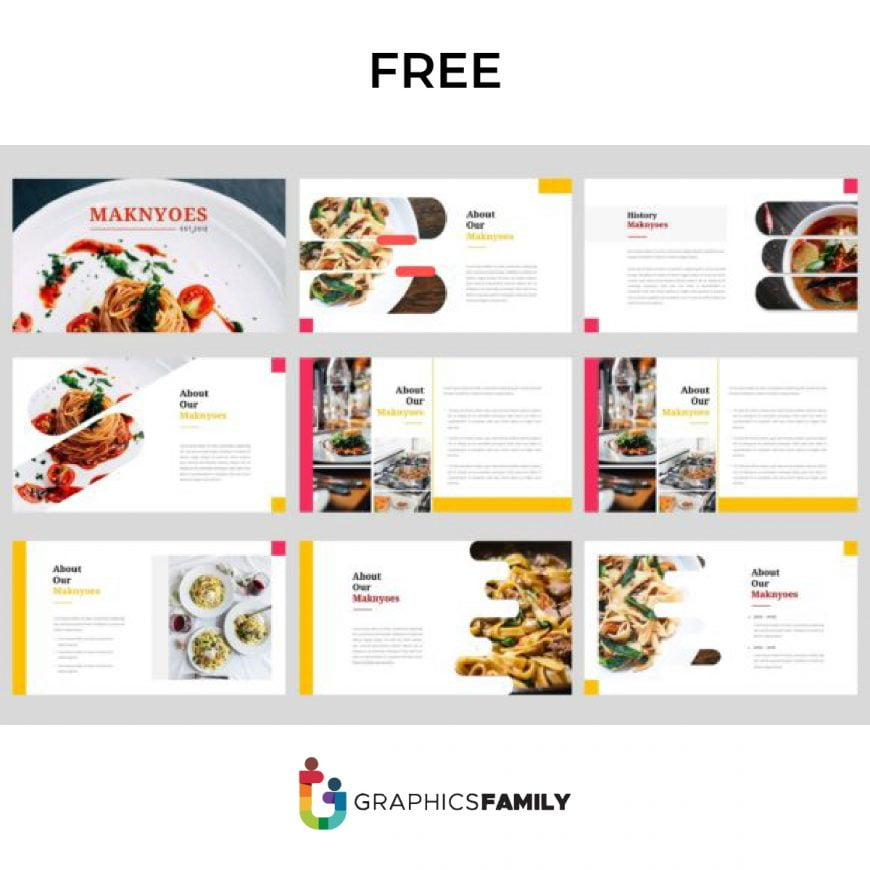 Free Maknyoes Food PowerPoint Template Presentation