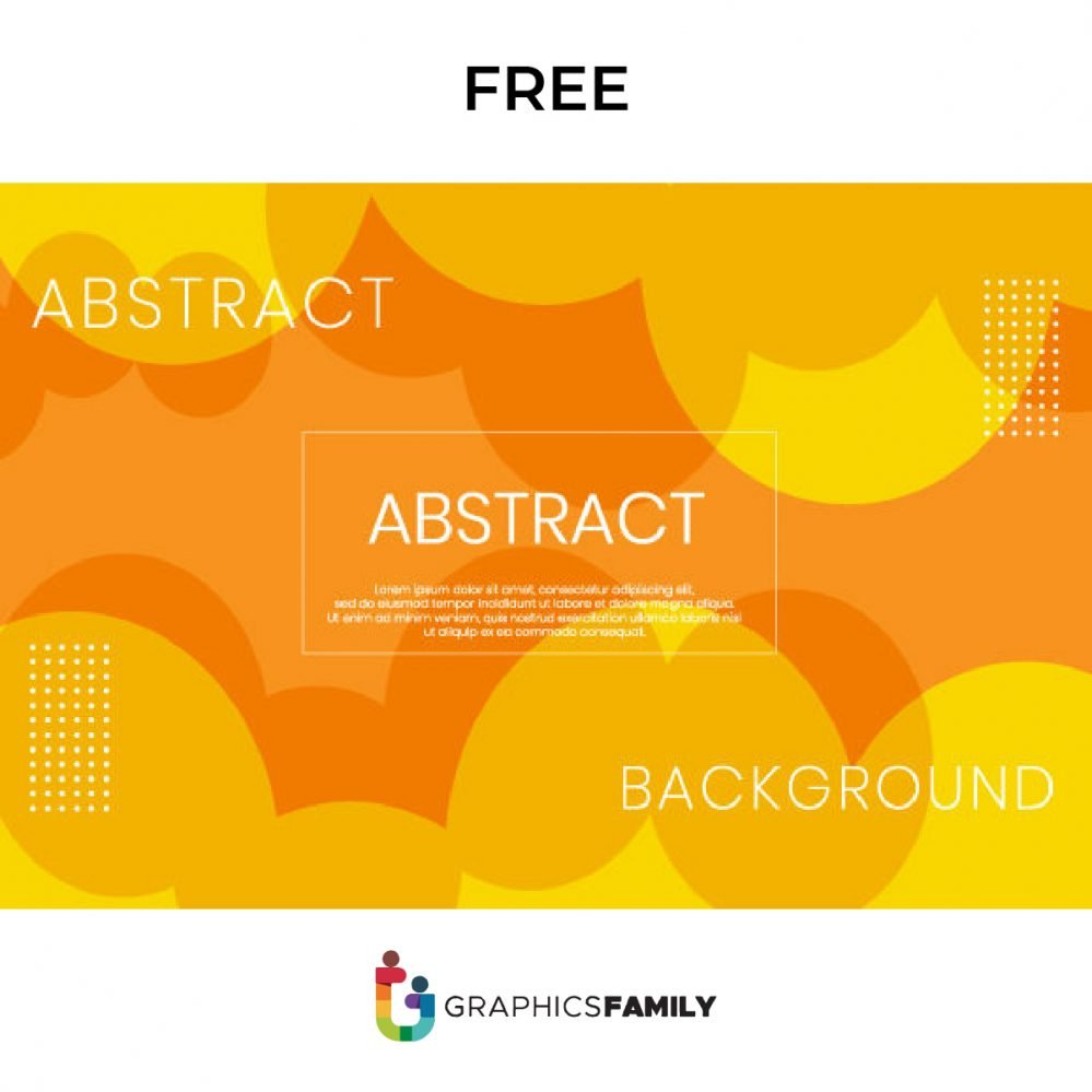 Free Abstract Orange Background Illustration