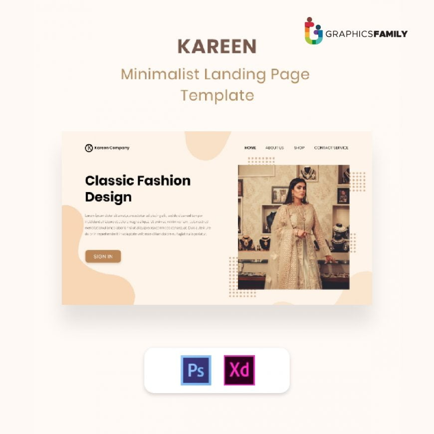 Free Minimalist Fashion Landing Page Template