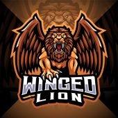 Winged Lion Esport Mascot Logo
