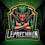 Leprechaun Gunner Esport Mascot Logo