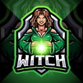 Witch Esport Mascot Logo