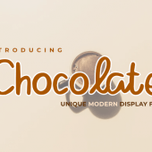 Chocolate – Modern Display Font Free