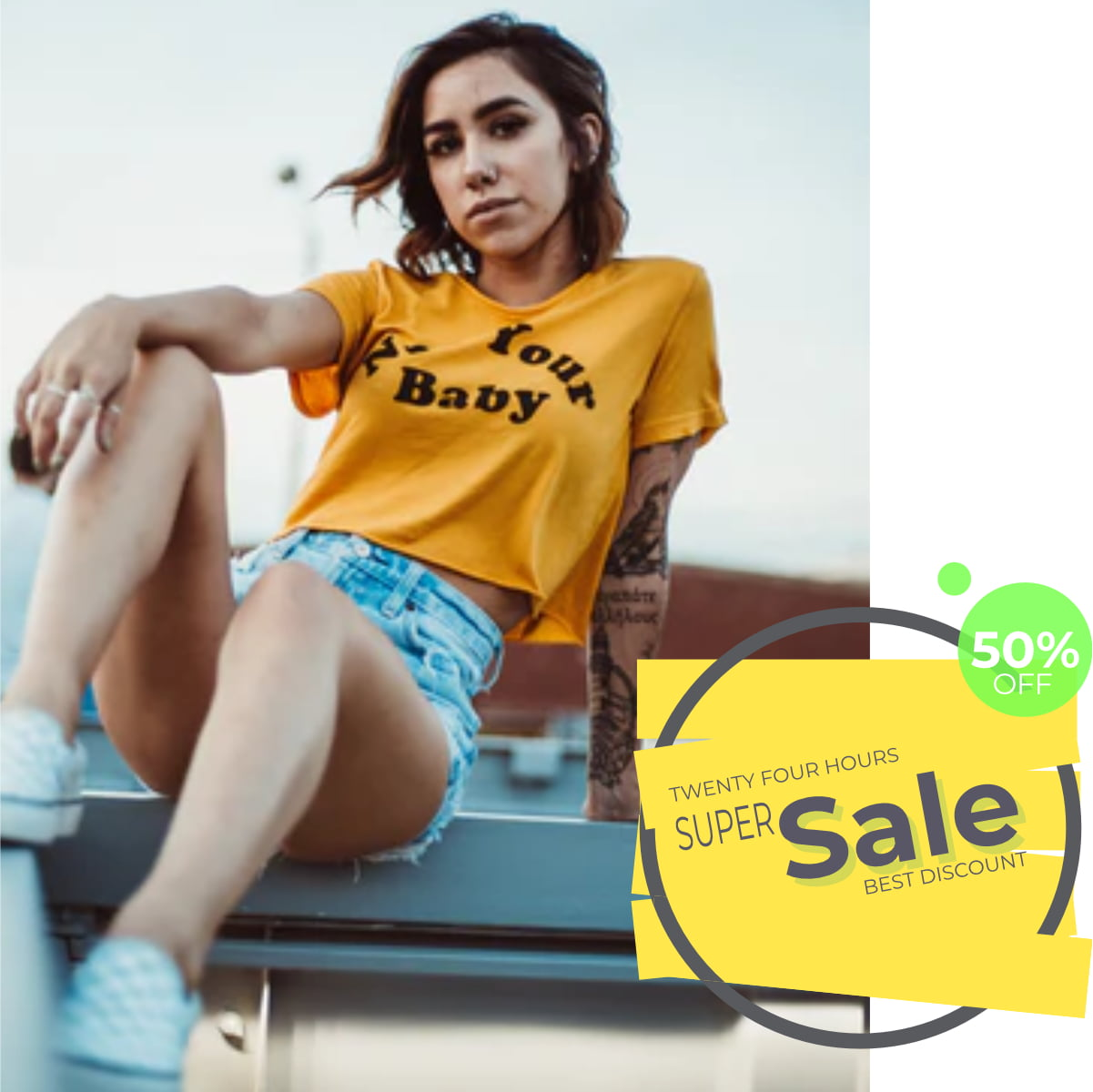 Colorful sale banner collection3