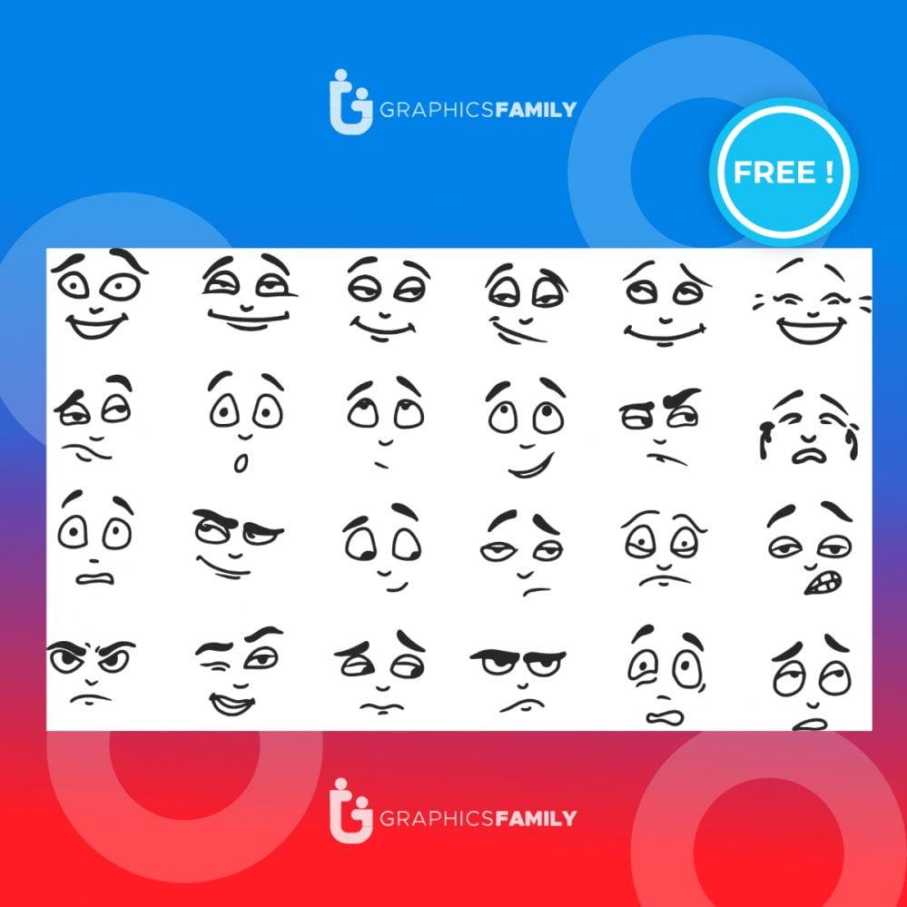 Facial expression illustration set download