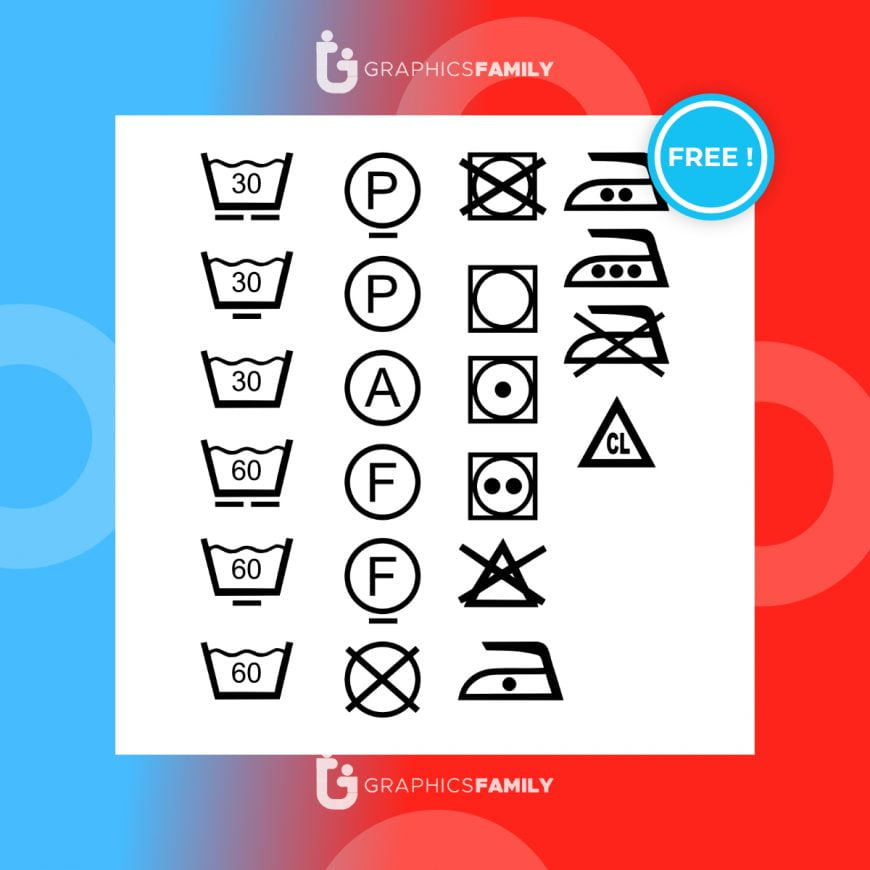 Free Clothes care symbols icons