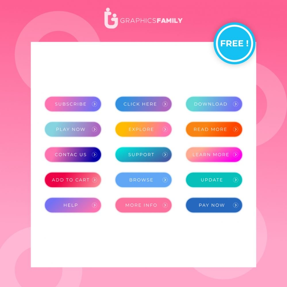 Free Colorful Web Buttons