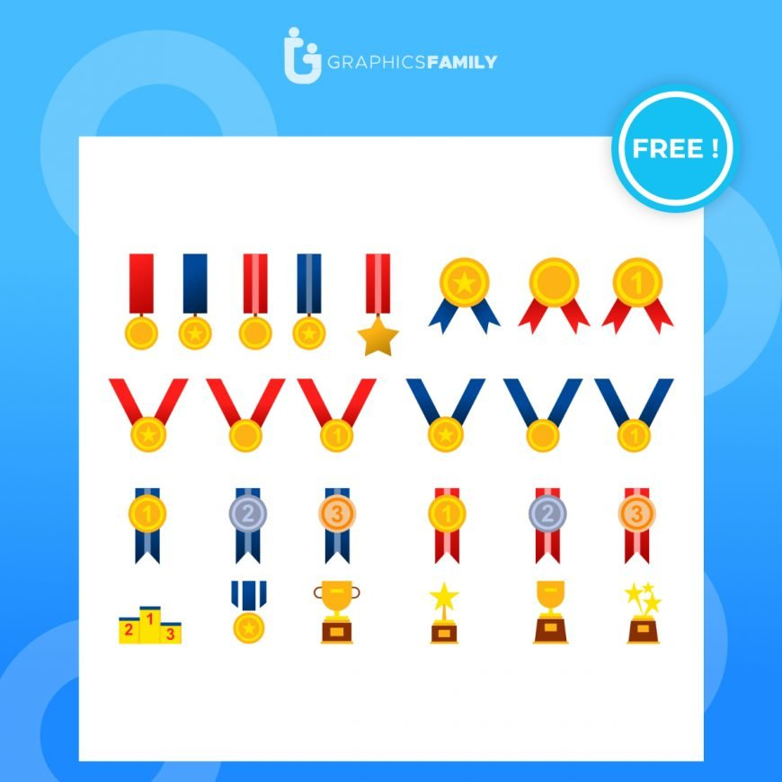 Free Trophies and awards vectors