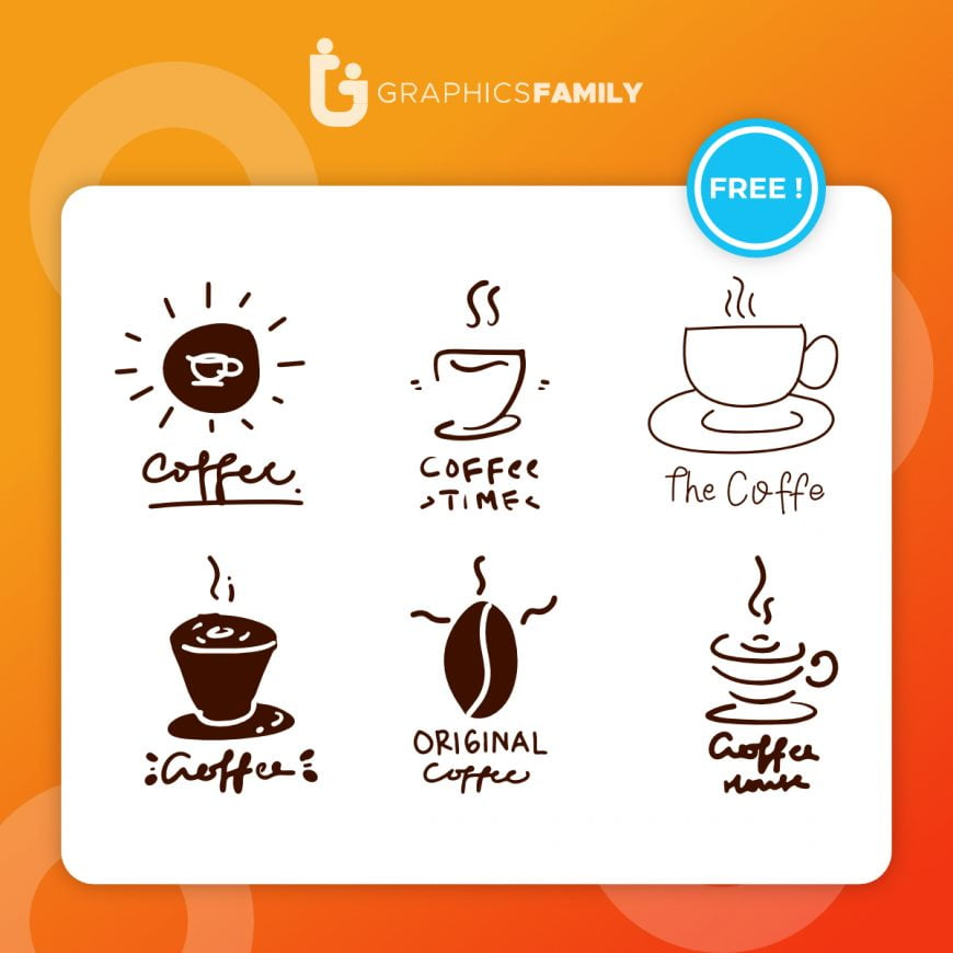 Set of coffee shop logos vector Free Vector