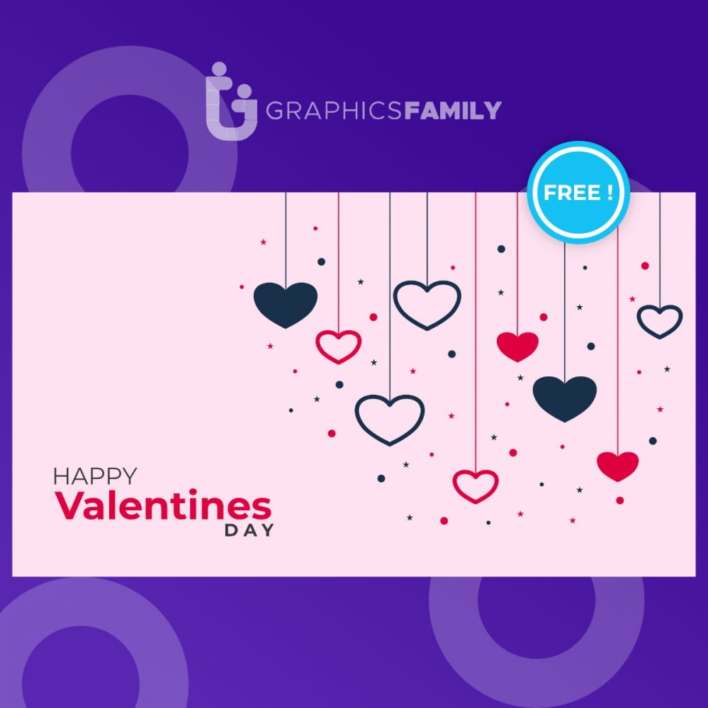 Stylish-hanging-hearts-background-for-valentines-day1